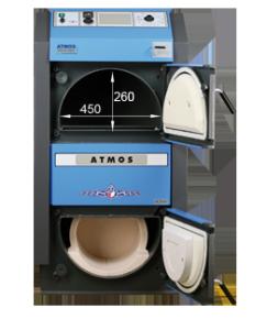 ATMOS GSE Holzvergaser (DC18GSE, DC22GSE, DC25GSE, DC30GSE, DC40GSE, DC50GSE) - Bemassung frontal