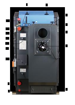 ATMOS GSE Holzvergaser (DC18GSE, DC22GSE, DC25GSE, DC30GSE, DC40GSE, DC50GSE) - Legende von hinten