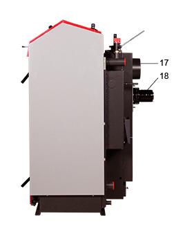 ATMOS GS Holzvergaser Serie (GS20, GS25, GS32, GS40) - Legende Seitenansicht