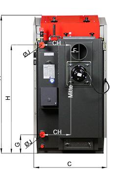 ATMOS GS Holzvergaser Serie (GS20, GS25, GS32, GS40) - Bemassung 2