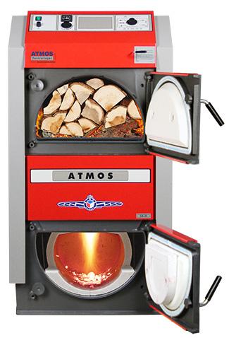 ATMOS GS Holzvergaser Serie (GS20, GS25, GS32, GS40) - Bild mit Feuer