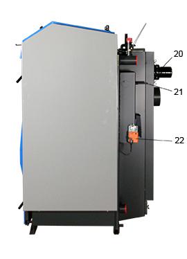 ATMOS GSX Holzvergaser (GSX50 und GSX70) - Legende Seitenansicht