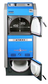 ATMOS GSX Holzvergaser (GSX50 und GSX70) - Bemassung von vorn
