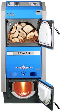 ATMOS GSX Holzvergaser (GSX50 und GSX70) - Bild mit Feuer