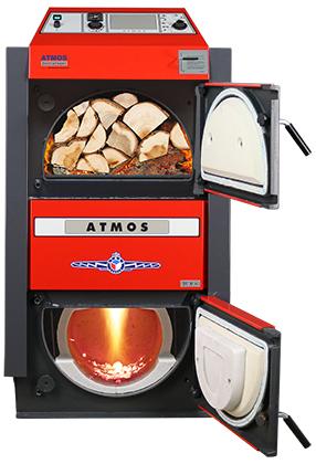 ATMOS SE Holzvergaser - ATMOS DC30SE - Bild mit Feuer