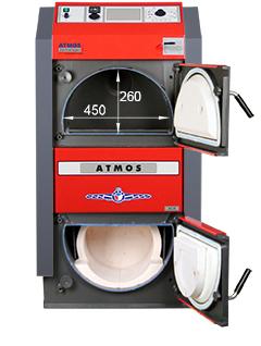 ATMOS SE Holzvergaser - ATMOS DC30SE - Bemassung von vorn