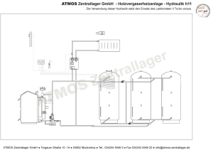 Hydraulik ATMOS Holzvergaserheizanlage H11