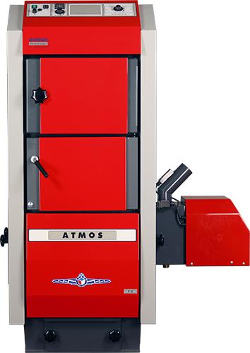ATMOS P80 Pelletkessel - Imagebild mit geschlossener Brennkammertür