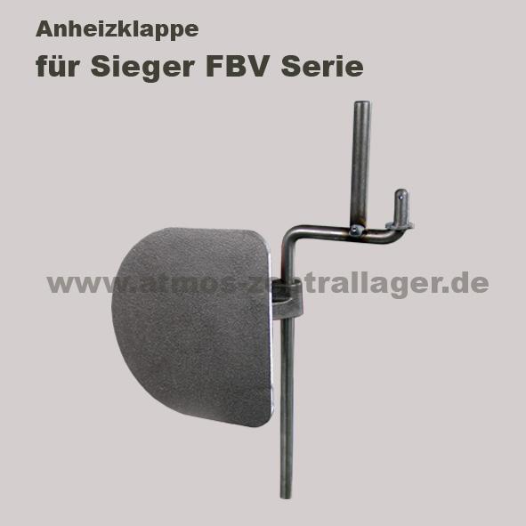 Anheizklappe für Sieger FBV Holzvergaser