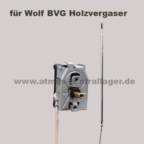 Rauchgasthermostat für Wolf BVG Holzvergaser