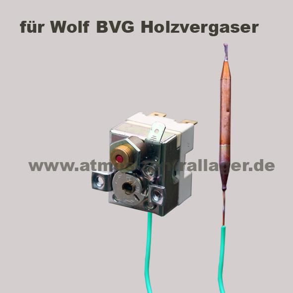 Sicherheitsthermostat für Wolf BVG Holzvergaser