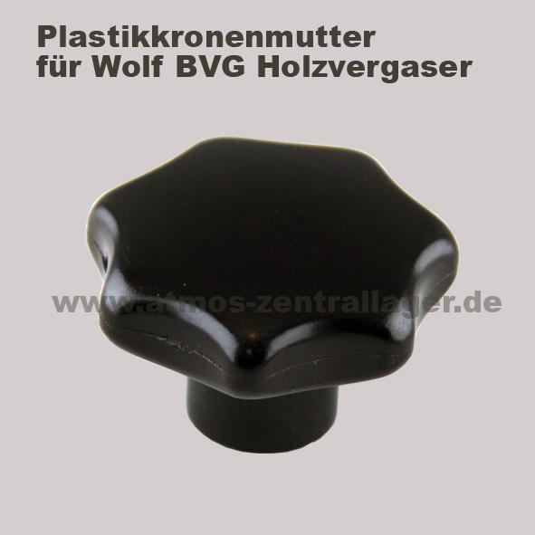 Plastikkronenmutter für Wolf BVG Holzvergaser