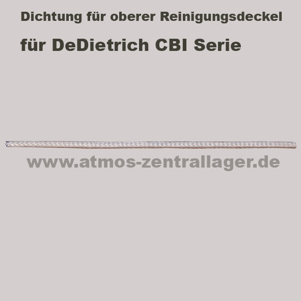 Dichtung für oberern Reinigungsdeckel für DeDietrich CBI