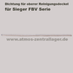 Dichtung für oberen Reinigungsdeckel für Sieger FBV Holzvergaser