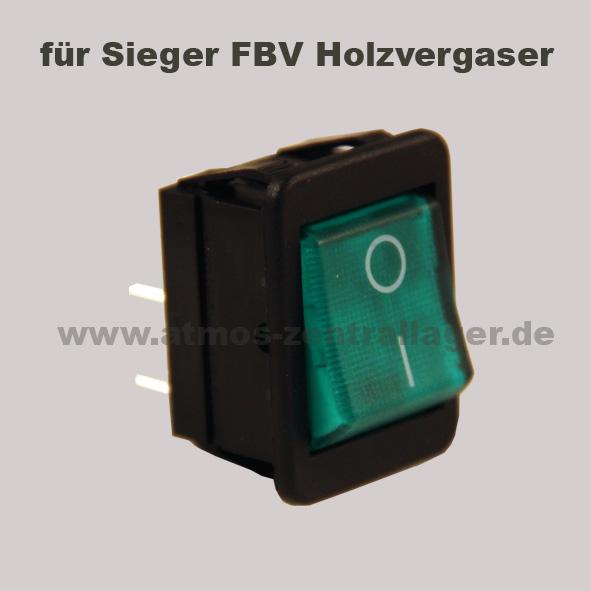 Hauptschalter S0091 für den Sieger FBV Holzvergaser