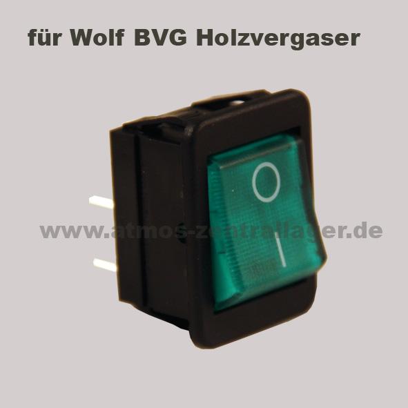 Hauptschalter S0091 für Wolf BVG Holzvergaser