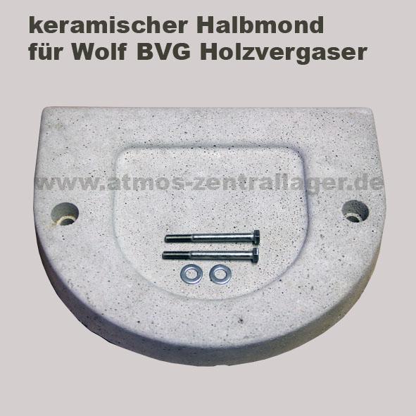 keramischer Halbmond für Wolf Holzvergaser
