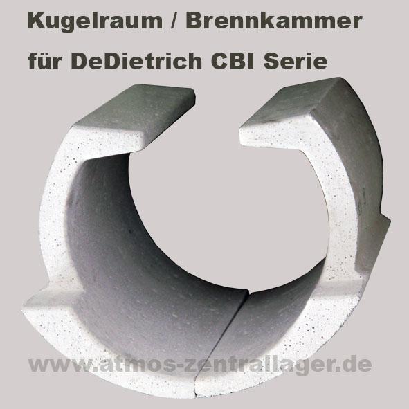 Kugelraum – Brennkammer für DeDietrich CBI Holzvergaser