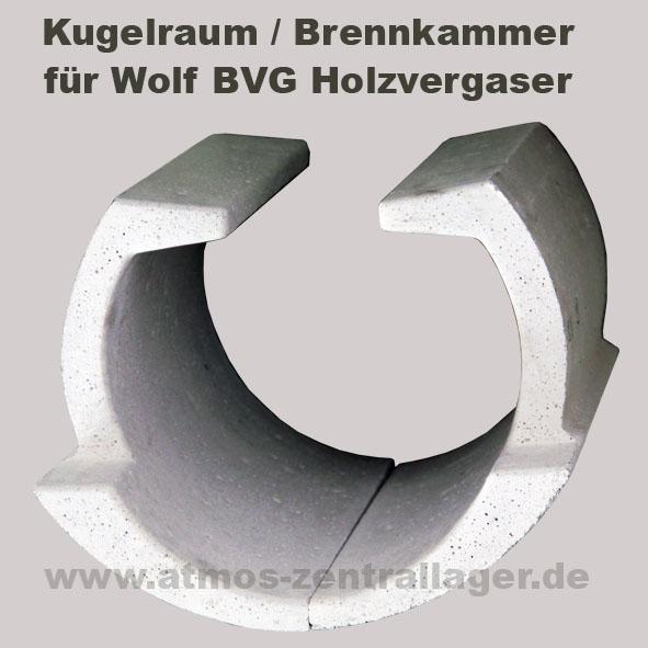 Kugelraum – Brennkammer für Wolf BVG Holzvergaser