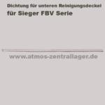 Dichtung des unteren Reinigungsdeckels für Sieger FBV
