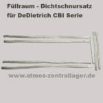 Füllraumdichtschnursatz für DeDietrich CBI Holzvergaser