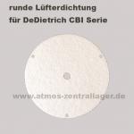 runde Lüfterdichtung für DeDietrich CBI Holzvergaser