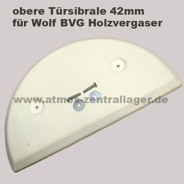 obere Türsibrale 42mm für Wolf Holzvergaser