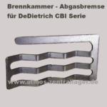 Abgasbremse für DeDietrich CBI Holzvergaser