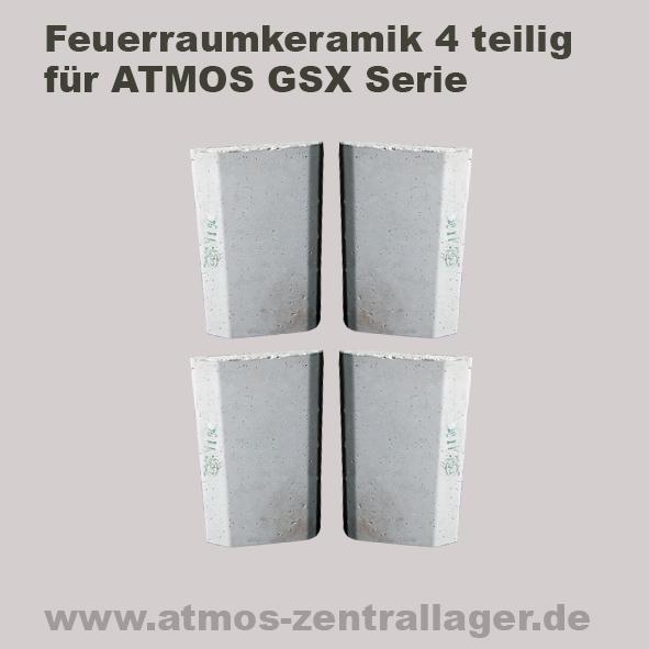 Feuerraumkeramik für ATMOS GSX Holzvergaser