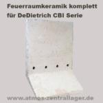 Feuerraum Seitenwand für DeDietrich CBI Holzver