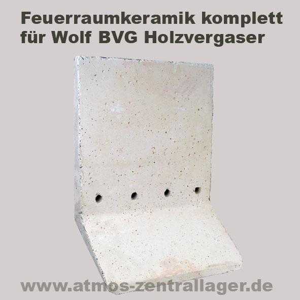 Feuerraumkeramik für Wolf Holzvergaser