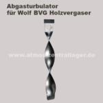 Abgasturbulator für Wolf BVG Holzvergaser