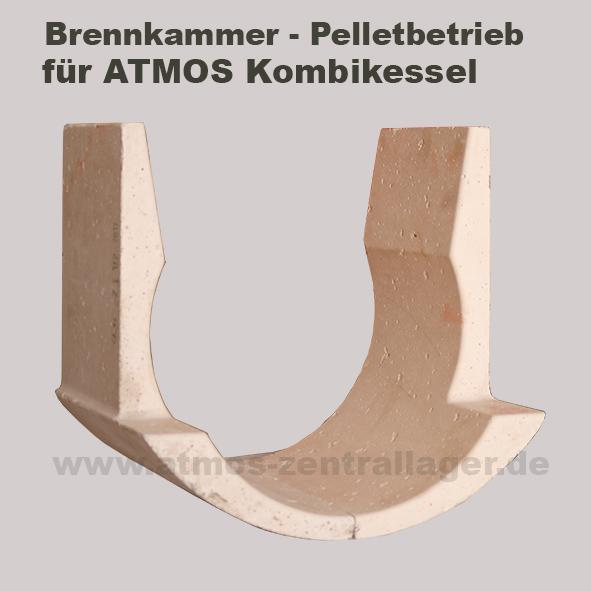 Verbrennungskammer Pelletbereich der ATMOS GSP Kombikessel
