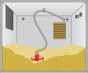 ATMOS - Maulwurfsystem zur Ansaugung von Pellets