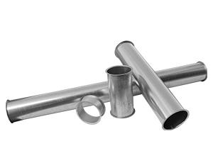 Pelletleitung Rohrsystem - Längenelement in 50mm, 200mm, 500mm, 1000mm und 2000mm Länge
