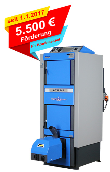 Berühmt 5500 € Förderung für ATMOS Kombikessel - ATMOS Zentrallager GmbH #KG_85