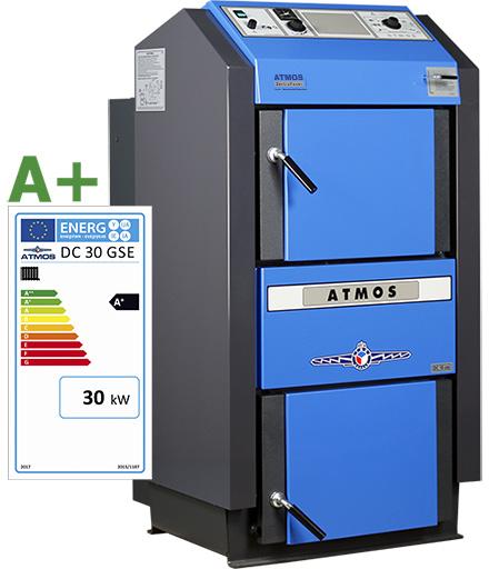 ATMOS Holzvergaser mit Effizienzlabel A+