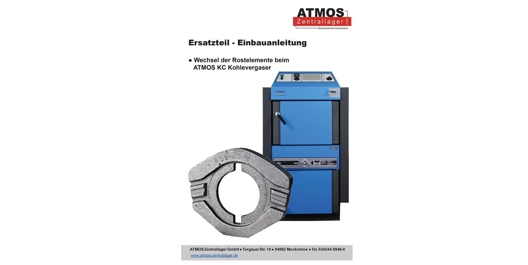 Ersatzteil - Einbauanleitung für ATMOS KC Kohlevergaser - ATMOS ...